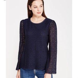 LIGHT BLUE! banana republic NWT lace shirt